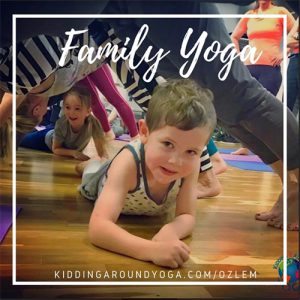 Family yoga class at the library