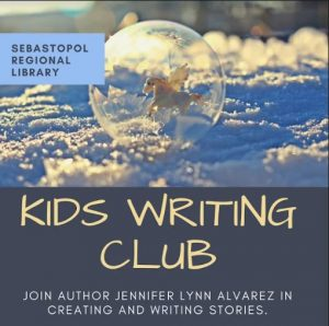 Kids writing club at the library