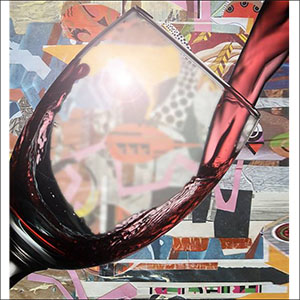 Collage and wine
