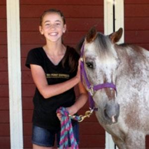 Kids horsemanship class